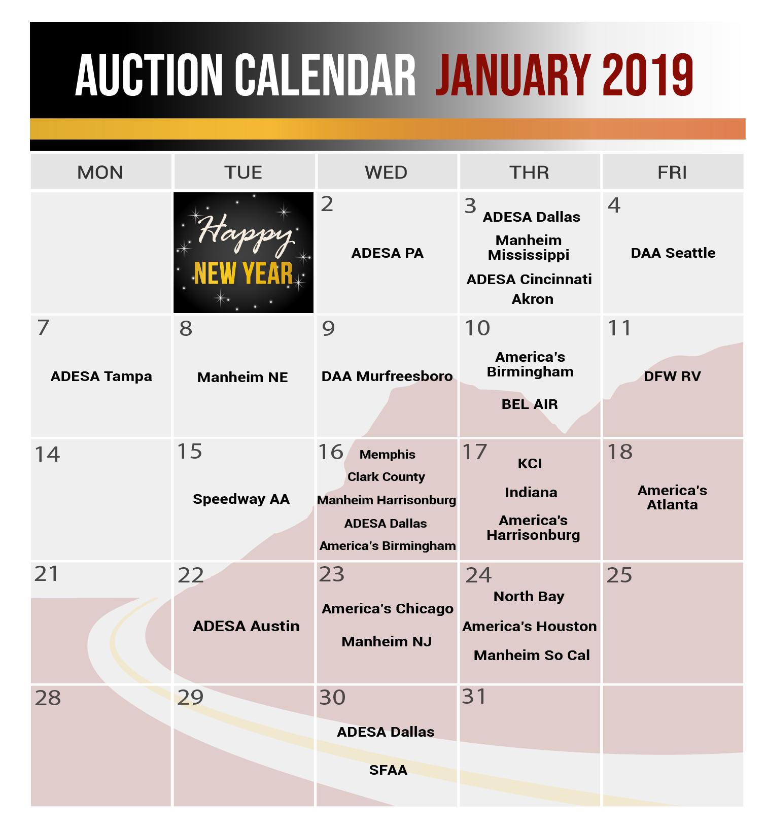CAPROCK Calendar Jan 2019-03-03